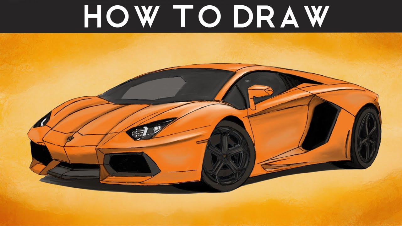 HOW TO DRAW a Lamborghini Aventador - Step by Step ...