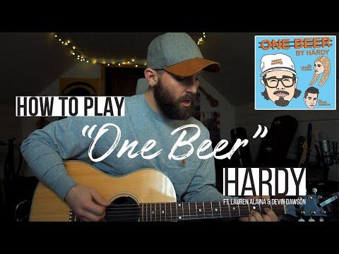 One Beer - Hardy Ft. Lauren Alaina & Devin Dawson (Guitar Lesson + Chords)