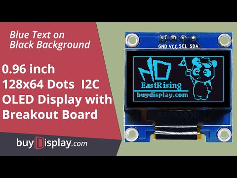 "I2C Blue 0.96"" inch OLED Display Module 128x64 Arduino,Raspberry Pi"