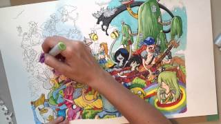 Coloring Adventure Time with Copic Markers