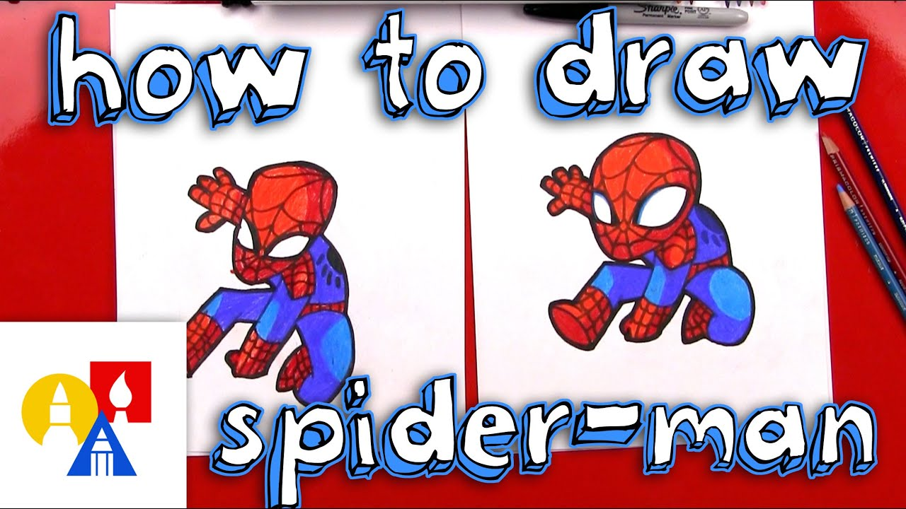 How To Draw Cartoon Spider Man Youtube