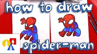 How To Draw Cartoon Spider-Man