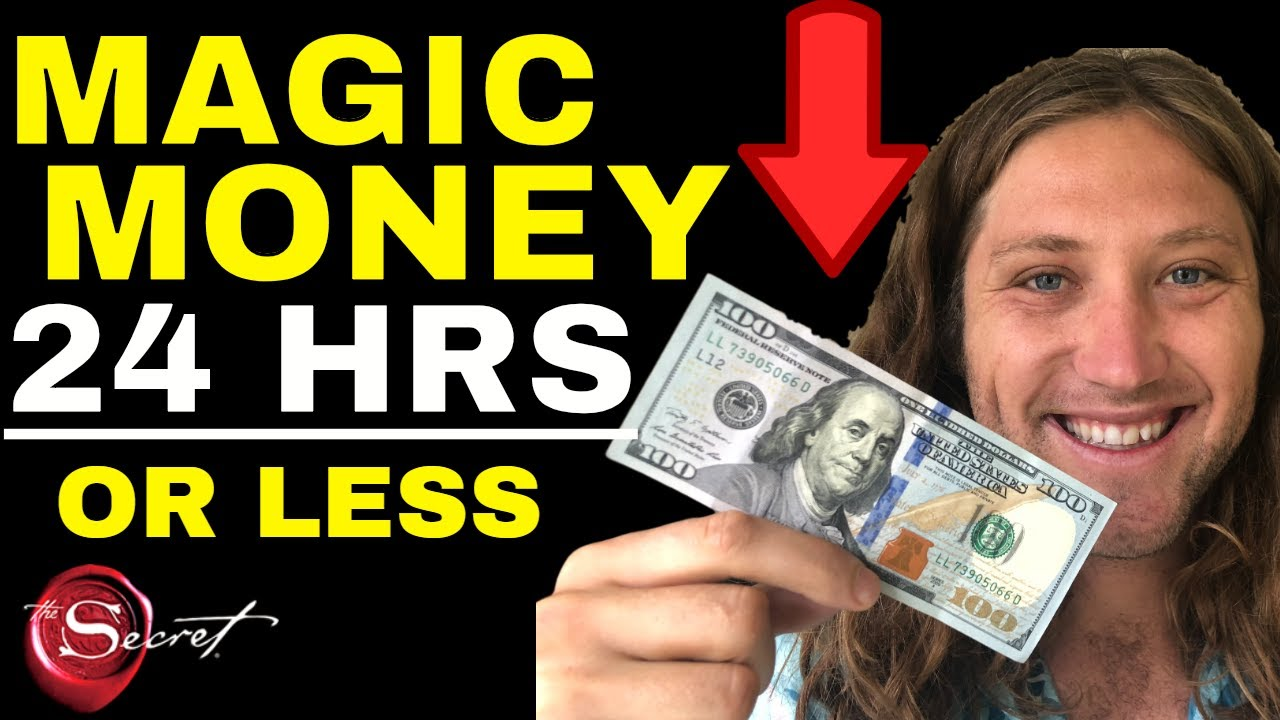 Receive Unexpected Money In 24 Hours Or Less Law Of Attraction Attract Money