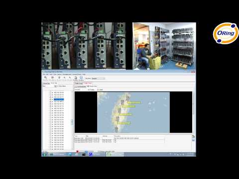 ORing Industrial Networking Corp. — Open-Vision v3.0 Topology View Demo (hardware + screen)
