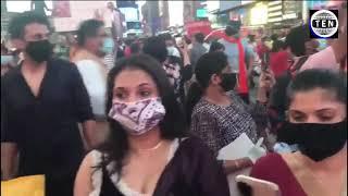 Mega celebration of Ram Temple at Times Square, USA | Indians sing, dance on Jai Shree Ram | ISKCON