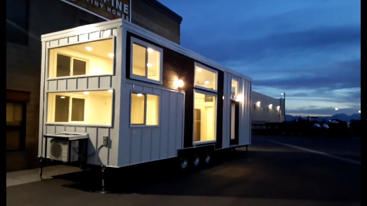 tiny house built for family of 5 youtube. Black Bedroom Furniture Sets. Home Design Ideas