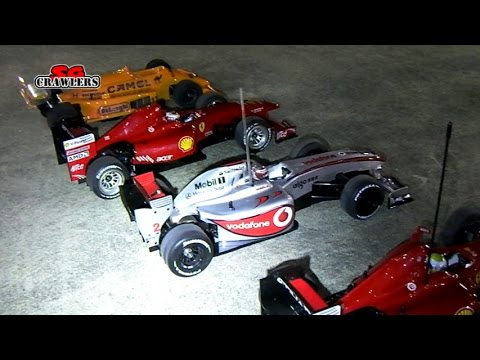 Night Touring RC Cars Formula 1 Racing At Sengkang Hardcourt Tamiya F104 Ferrari
