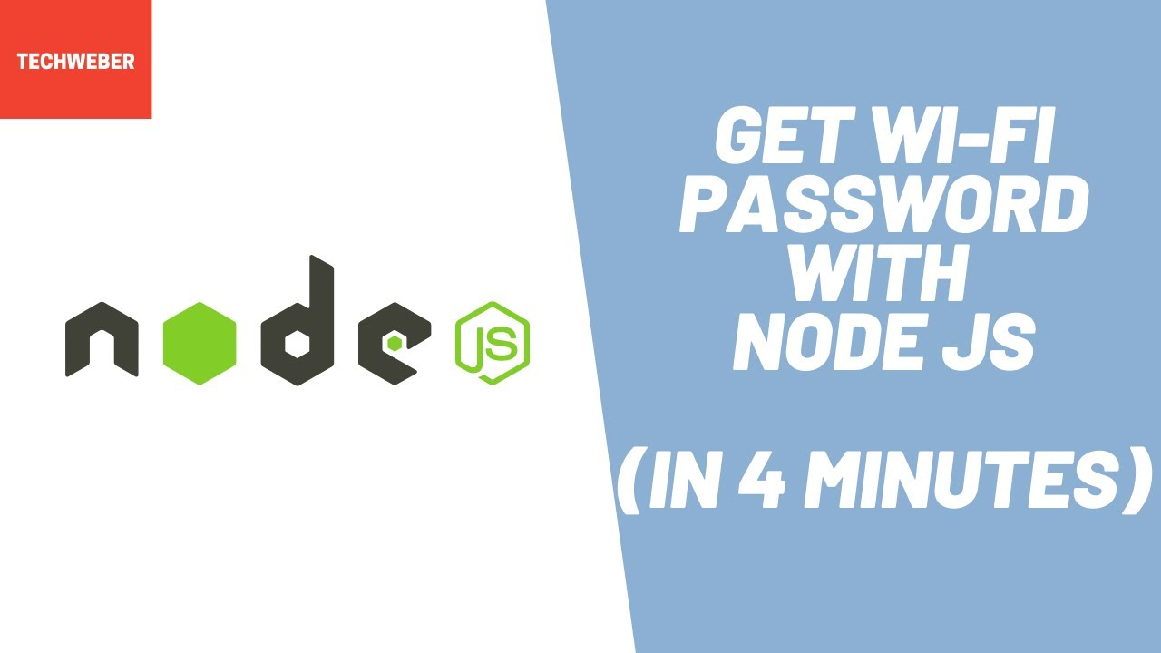 Learn How to Get Wi-Fi Password using Node JS