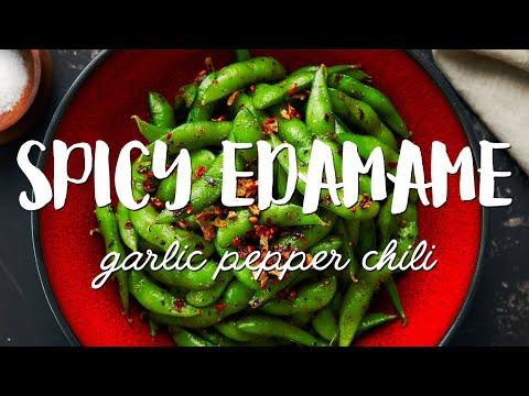SPICY Edamame Recipe ��