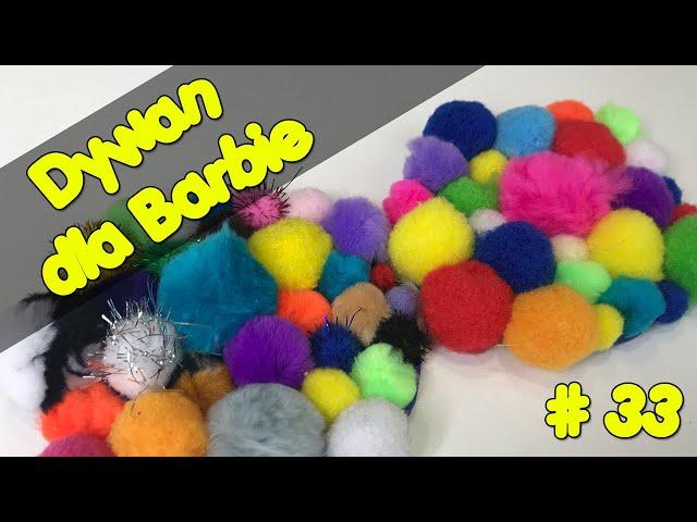 Barbie - Dywan dla Barbie   Kolorowy dywan   Carpet for Barbie   Zrób to sama #33