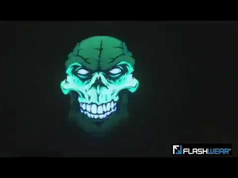 FLASHWEAR® Green Skull