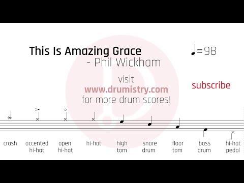 Phil Wickham - This Is Amazing Grace Drum Score