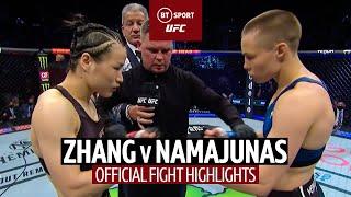 Thug Rose is back! Zhang Weili v Rose Namajunas | UFC 261 Highlights
