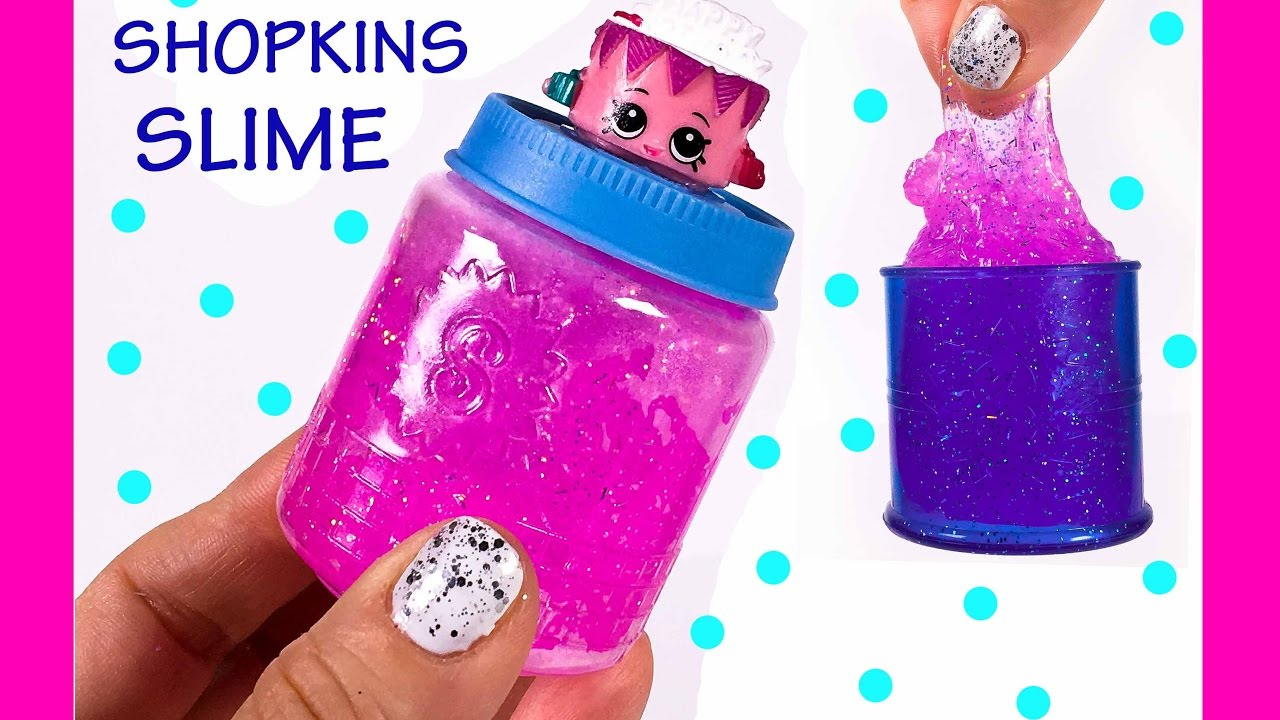 DIY Shopkins Glitter Slime Surprise Toy Gifts for Friends Birthday