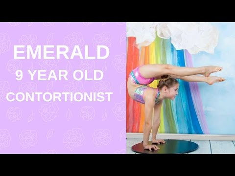 Emerald Wulf 9 year old contortionist