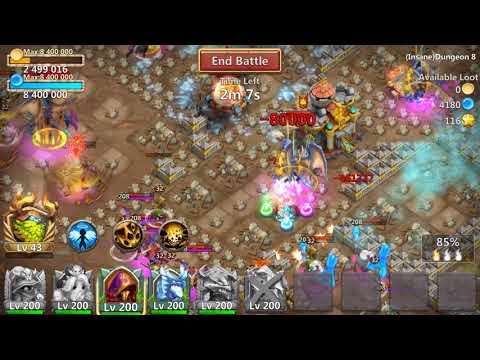 Castle Clash Insane Dungeon 8-10