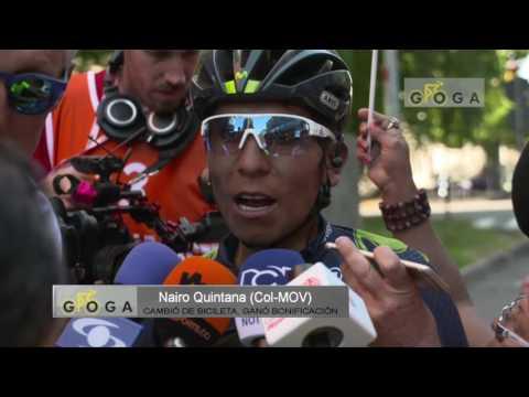 VIDEO REPORTE Etapa 15 Giro 100 Bob Jungels gana, Nairo cae pero es 2º en meta