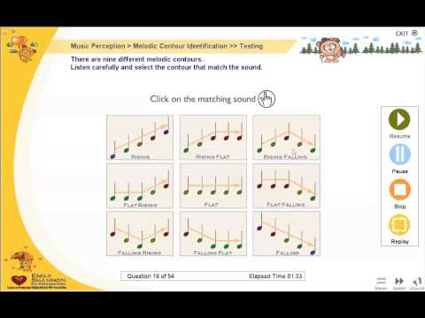 Melodic Contour Identification Using Angel Sound