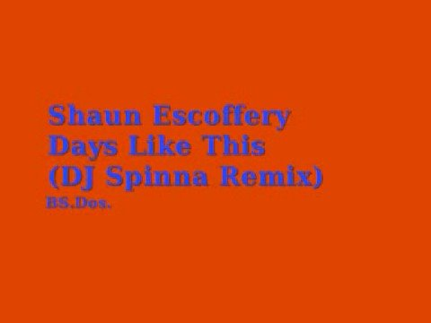 Shaun Escoffery ~ Days Like This (DJ Spinna Remix)