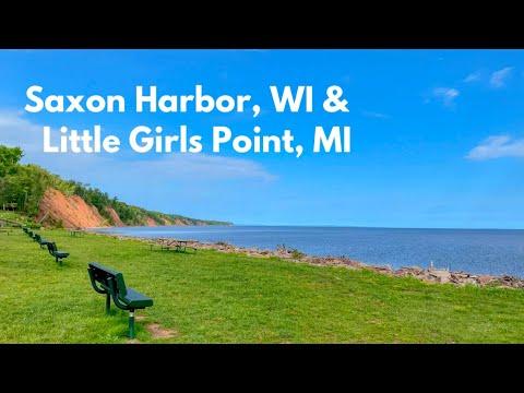 Saxon Harbor, Wisconsin and Little Girls Point, Ironwood, Michigan