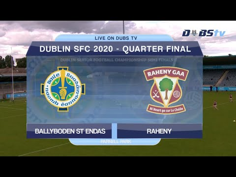 Ballyboden St Endas v Raheny- 2020 Dublin Senior 1 Football Championship Quarter Final
