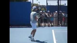【テニス】ジョコビッチの力みのないストローク!