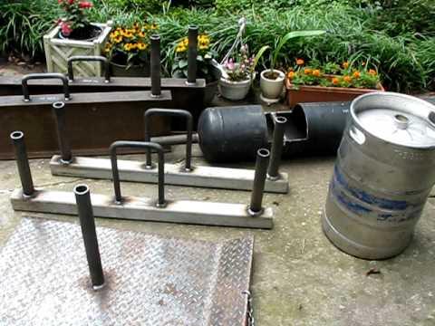 homemade strongman equipment  youtube