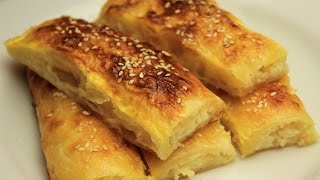 Baklava Phyllo Borek Recipe - Turkish Homemade Cheese Pie