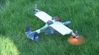 Bicopter VTOL Test 2 crash