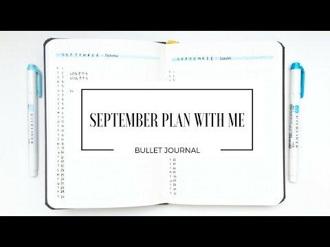 SEPTEMBER PLAN WITH ME   Bullet Journal