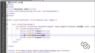 HTML-верстка на Bootstrap | #8 Кнопка с выпадающим меню