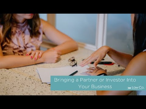 Bringing a Partner or Investor Into Your Business - All Up In Yo' Business