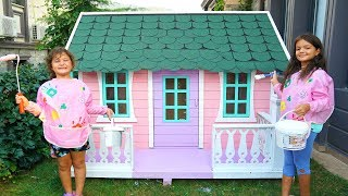 Masal & Öykü paints a new playhouses