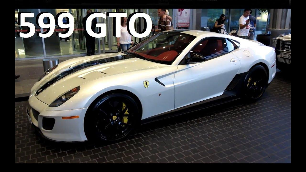 Ferrari 599 gto in beautiful pearl white youtube vanachro Image collections