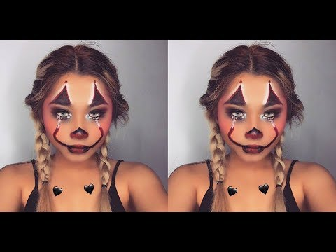 Halloween Makeup Easy Clown.Easy Halloween Makeup Clown Killer Iamphoebe