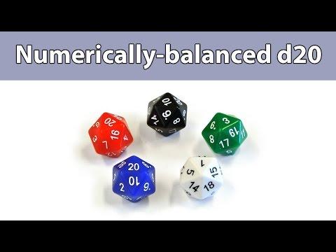 Numerically-balanced d20 dice
