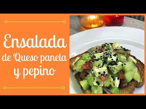 Ensalada de queso panela y pepino  | Cocina de Addy