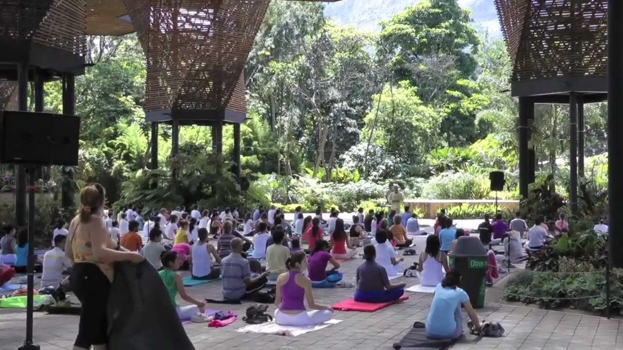 Yoga en jard n bot nico de medell n colombia youtube for Caracteristicas de un jardin botanico