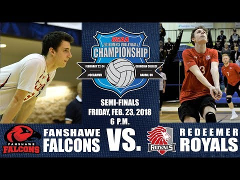 Game Seven - 2018 OCAA Men's Volleyball Championship - Semi-Final - Redeemer vs. Fanshawe