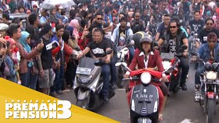 Konvoi motor pemain Preman Pensiun 3 Launching PP3 14 Des 2015
