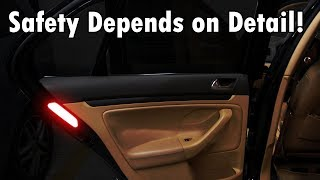 Keep Fewer Accidents by Using Car Door Reflective Stickers from senzeal-auto.com