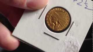 Indian Head Gold Coins ($5 & $2 1/2)