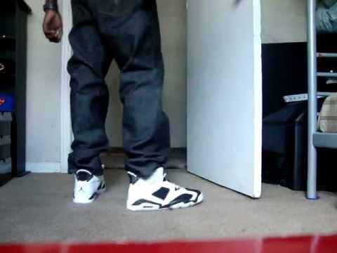 Air Jordan Retro 6 Oreos on feetJordan 6 Oreo On Feet