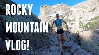 Rocky Mountain National Park Adventure Trail Run VLOG! Odessa Lake and more!