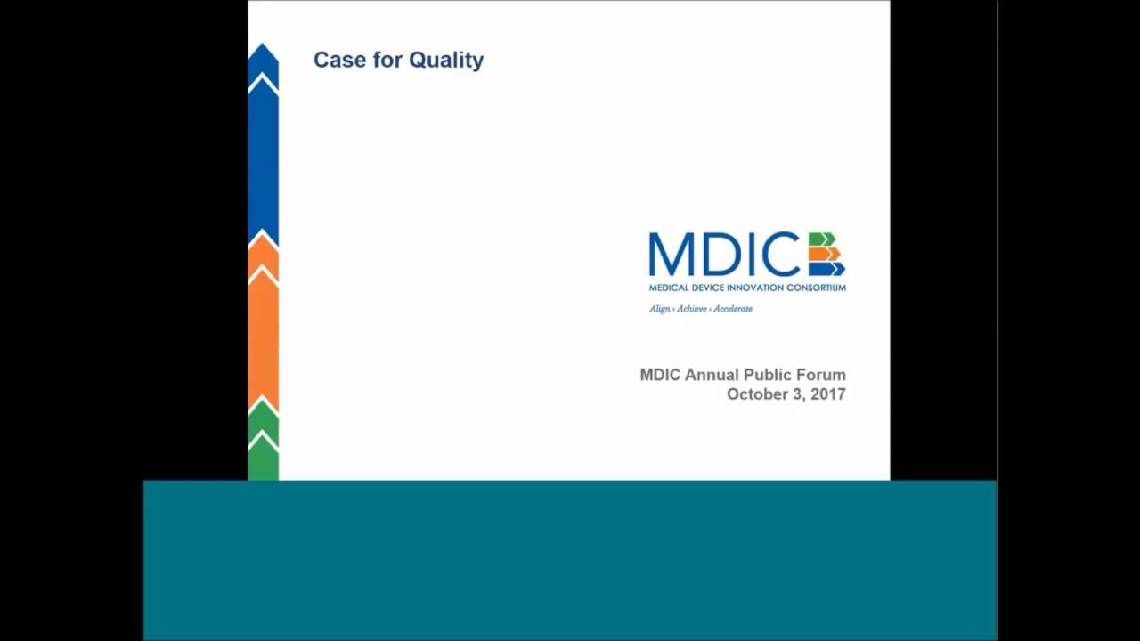 2017 MDIC Annual Public Forum - MDIC