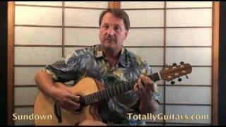 Gordon Lightfoot - Sundown Acoustic Guitar Lesson Preview