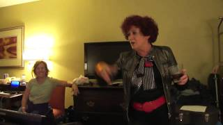 Rehearsing with Patricia Quinn from Rocky Horror Picture Show