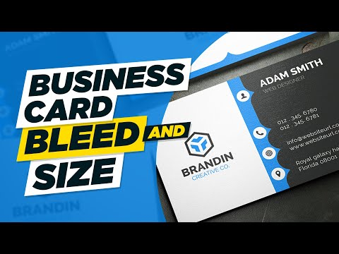 What Is Business Card Bleed And Business Card Correct Size | Urdu / Hindi