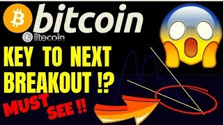 🚀BITCOIN KEY TO NEXT BREAKOUT!!??🚀bitcoin litecoin price prediction, analysis, news, trading