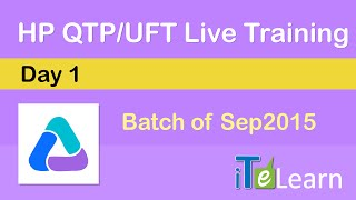 qtp uft live training day 01 demo session for beginners